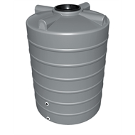 Flexdrive Rotomoulding 2200L Polyethylene Round Water Tank - Armour Grey