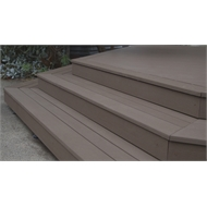 Ekodeck Plus 137 x 23mm x 5.4m Dark Brown Grooved Composite Decking