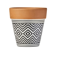 Waxworks Tribal Citronella Terracotta Pots - 3 Pack