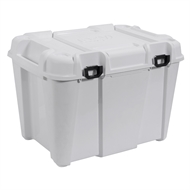 Ezy Storage 160L White Bunker White Heavy Duty Tub