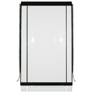 Bistro Blinds 0.75mm PVC Outdoor Blind - 900mm x 2400mm Clear / Black