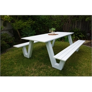 Hartman Wave Aluminium Outdoor Picnic Bench