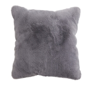 45 x 45cm Grey Faux Fur Interior Cushion