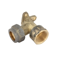 Kinetic 20mm Brass Lugged Compression Elbow