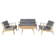 Hartman Narvik 4 Piece Timber Lounge Setting