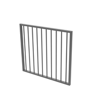 Protector Aluminium 975 x 900mm Flat Top Garden Gate - To Suit Self Closing Hinges - Palladium Silver