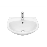 Stylus 450mm Allegro Wall Basin 1TH