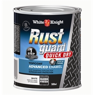 White Knight 500ml Rust Guard Quick Dry Advanced Enamel Gloss White
