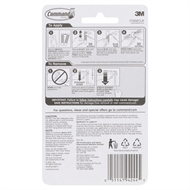 Command Clear Small Cord Clips - 8 Pack