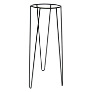 Lotus Collection 25 x 75cm Black Metal Plant Stand