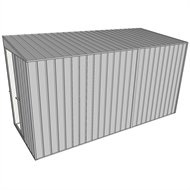 Build-a-Shed 1.5 x 3.7 x 2m Single Sliding Door Skillion Shed - Zinc