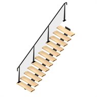 Weldlok Monostringer Timber and Wire 12 Tread Stair Wire Kit