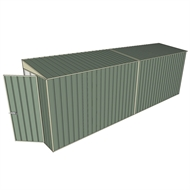 Build-A-Shed 1.2 x 6.0 x 2.0m Zinc Tunnel Shed Tunnel Hinged Door No Side Doors - Green