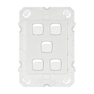HPM ARTEOR 5 Gang Wall Switch - No Coverplate - White