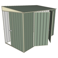 Build-a-Shed 1.5 x 3 x 2m Sliding Door Tunnel Shed with 2 Side Doors - Green