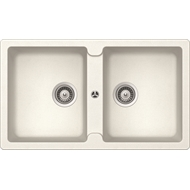 Abey Typos White Alpina Double Bowl Schock Sink