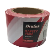 Brutus 75mm x 100m Red And White Safety Tape