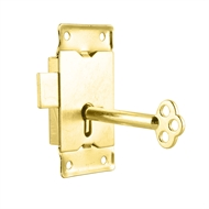 Pinnacle Brass Plated Cupboard Lock