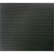 Ideal 1m Black Fine Rib Rubber Matting Sheet