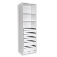 Multistore 2000 x 608 x 450mm White Wardrobe Insert