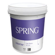 Spring 15L Low Sheen White Interior Paint