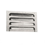 Builders Edge 230 x 150mm Galvanised Louvred Flat Faced Brick Vent With Mesh