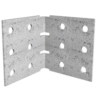 Dunnings 100 x 100 x 105mm M10 Galvanised Angle Bracket