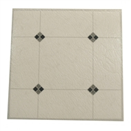 Winton Self-Stick Black Diamond Vinyl Floor Tiles