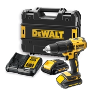 DeWALT 18V XR Brushless Compact 2 Speed Hammer Drill Kit with 2 x 3.0Ah Batteries