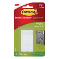 Command 2.2kg Easel Back Picture Hanging Strips - 2 Pack