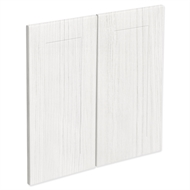 Kaboodle 600mm White Forest Alpine Rangehood Cabinet Doors - 2 Pack