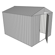 Build-a-Shed 2.2 x 3.0 x 2.3m Front Gable Single Hinged Door Deep Shed - Zinc