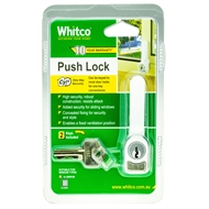 Whitco Sliding Window Push Lock - White