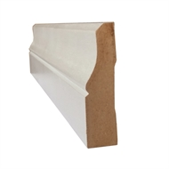 Hume 92 x 18mm x 5.4m  Lambs Tongue Primed MDF Moulding