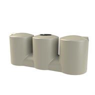 Melro 2007L Squat Slimline Poly Water Tank - Smooth Cream