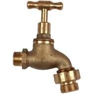 Brasshards 20mm Hose Tap with Integrated Vacuum Breaker