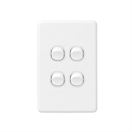 DETA X6 White Quad Vertical Switch