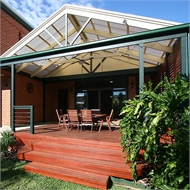 Softwoods 3.6 x 4.9m Suntuf Standard Roof Free Standing Patio Gable Kit