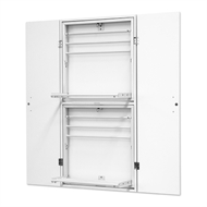 Bedford 1200 x 597 x 82mm White High Moisture Resistant Airer Cabinet