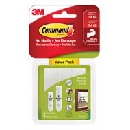 Command Small And Medium Picture Hanging Strips - 12 Pack