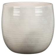 Scheurich 21 x 20cm Intense White Ceramic Pot