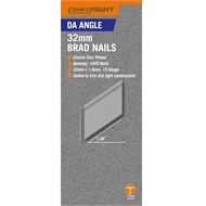 Craftright 38mm DA Angle  Brad Nails - 1000 Pack