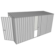 Build-A-Shed 1.2 x 3.7 x 2.0m Zinc Skillion Single Sliding Side Door Shed - Zinc