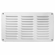 Haron 300 x 150mm White Aluminium Pressed Wall Vent