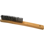 Josco 3 Row Stainless Steel Long Wire Brush