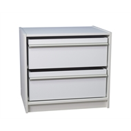 Multistore 550 x 608 x 430mm White 2 x Jumbo Drawers Wardrobe Insert