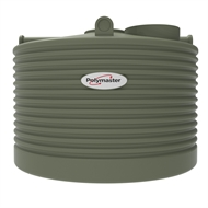Polymaster 2250L Squat Round Corrugated Poly Water Tank - Mist Green