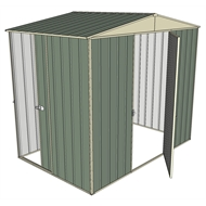 Build-a-Shed 2.3 x 1.5 x 2.3m Single Hinge and Single Sliding Door Narrow Shed - Green