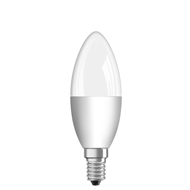 Osram 5.5W 470lm LED Classic Candle Shape Warm White E14 Frosted Globe