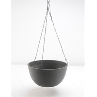 Eden 310mm Charcoal Green Earth Plastic Hanging basket